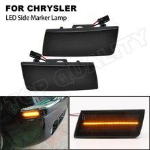 2 pçs fumado led lado marcador lâmpada de alta qualidade turn signal light para chrysler 300c 05-14 2x frente lado marcador (âmbar) acessórios