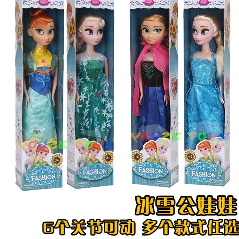 Princess Anna Elsa Dolls Snow Queen Children Girls Action figure Toys Birthday Christmas Gifts For Kids Cartoon Doll image