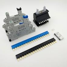Pont de contact à pression et prises de relais sur Rail DIN, 41F, 41FF, pont de contact 20 broches cavaliers, barres court