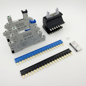 Image 1 - RELAY SOCKETS 41F  41FF  DIN Rail Snap Mount contact bridge 20Pin jumpers shorting relay shorting bar