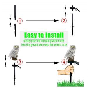 Image 5 - Owl LED Solar Garden Light Waterproof Solar LED Lights Cartoon Animal Stake Lamp Outdoor Lighting Decor Garland Lawn Path Yard