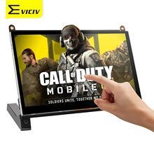 EVICIV-Monitor portátil de 7 pulgadas, pantalla IPS de 1024x600, HDMI, vídeo, PC, portátil, PS4, Xbox, Raspberry Pi, pantalla táctil, llamada de servicio