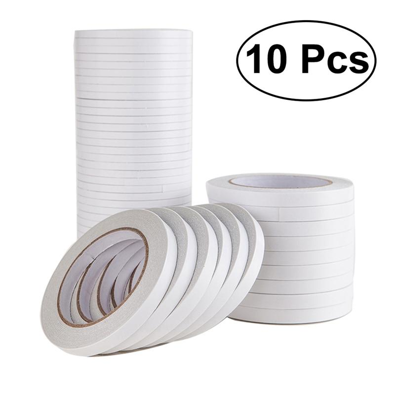 1.2x800cm Double-Sided Adhesive Tape For Arts Crafts Photography Scrapbooking Gift Wrapping Office School Stationery Supplies