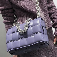 2021 nova marca de luxo feminina bolsas pequena corrente quadrado embreagem tecido grid ombro saco designer sênior couro cruz saco corpo