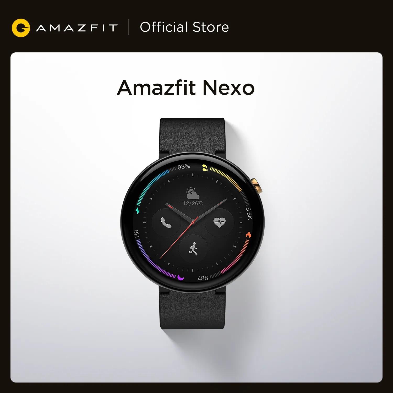 Global Version Amazfit Nexo Smartwatch Ceramics Bezel 10 Sports Modes GPS Glonass 1.39 inch AMOLED Display for Android phone