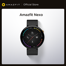 Küresel sürüm Amazfit Nexo Smartwatch seramik çerçeve 10 spor modları GPS Glonass 1.39 inç AMOLED ekran Android telefon için