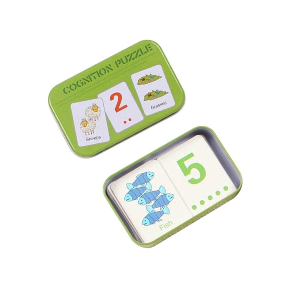 Детские Обучающие карточки Монтессори, Детские когнитивные карточки с железной коробкой, детский инструмент для обучения английскому, Обу...
