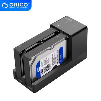 ORICO Dual Bay HDD Docking Station 2.5 3.5 USB 3.0 to Sata Hard Drive Case Support Offline Clone Hard Disk Adapter For HDD SSD bs hd07u2 usb 2 0 esata to sata dual bay hdd docking station