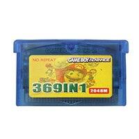 32 بت 369 في 1 تجميع لعبة فيديو خرطوشة بطاقة وحدة التحكم اللغة الإنجليزية لنينتندو GBA