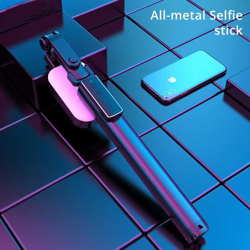 Integrated Bluetooth Phone Selfie Stick Tripod Hidden Selfie-Timer Shutter Monopod With Remote Control LED Fill Light 170cm Long