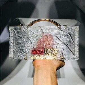 Clear Acrylic Box Evening Clutch Bag Women New Summer Transparent Luxury Dinner Handbags Designer Thick Acrylic Crossbody Purse