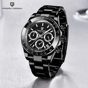 PAGANI DESIGN luksusowa marka Vk63 męski sportowy zegarek kwarcowy luksusowy męski wodoodporny zegarek nowa moda Casual Relogio Masculino tanie i dobre opinie 22cm Luxury ru QUARTZ 10Bar Sprzączka CN (pochodzenie) STAINLESS STEEL 12mm SZAFIROWY KRYSZTAŁ Kwarcowe zegarki Papier