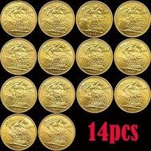 14 шт 1887-1900 Великобритания полный набор 27 г имитация монеты Королева Виктория монеты Великобритания украшение дома монета