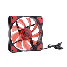 Newest Double Head 3P/4Pin Wired 120x120x25mm 1200RPM Computer Case Fans 12 V 12cm DC Fans Chassis Fan Cooler Cooling Radiator(China)