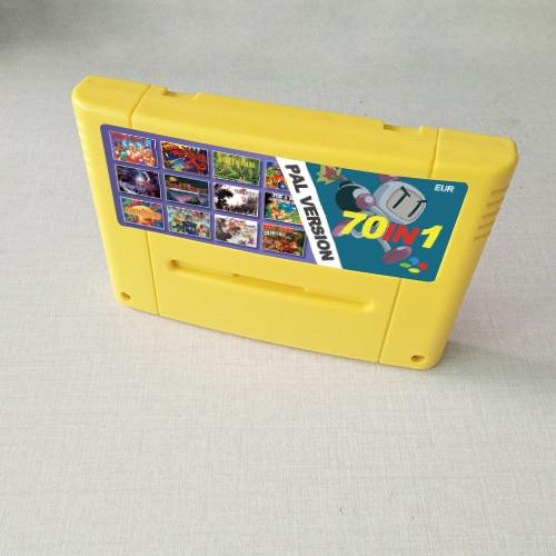Super 70 In 1 EUR Version Games With Tactics Ogre Zeldaed A Link To The Past Super Probotector Bomberman 1 2 3 Final Fantasy VI