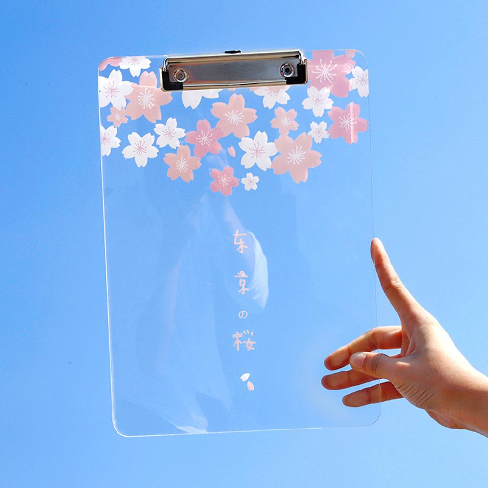 Adeeing File Clip Transparent A4 Writing File Board Multi-function File Clip D20