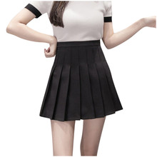 Fashion Women High Waist Pleated Casual Solid A-Line Slim Short Fit Mini Skirts