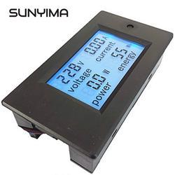 SUNYIMA 20A AC wielofunkcyjny cyfrowy panel zasilania LED miernik Monitor energii energii Diy w Mierniki napięcia od Narzędzia na
