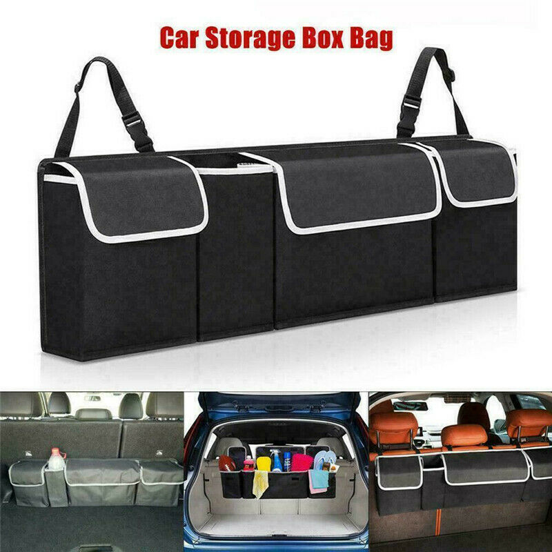 Car Organizer Trunk Backseat Adjustable Storage Bag Net High Capacity Multi-use Oxford Back Interior Accessories