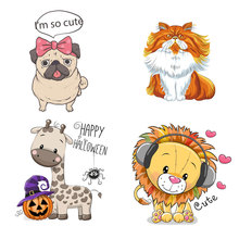 ZOTOONE Cute Animal Patches Set Iron on Transfer for Girl Kids Clothing DIY Heat Vinyl Stickers