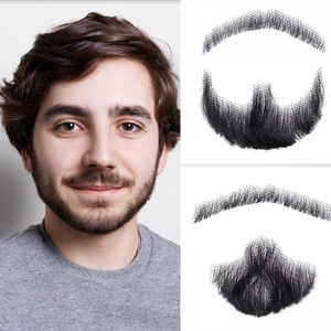 Xnaira Fake Mustache Handmade Human Hair Weave Fake Beard Used In Daily Life Video Film Television Production Lace Man Hair Wig