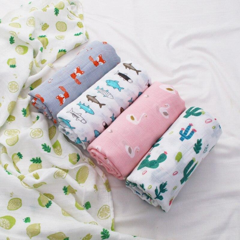 Imebaby Bamboo Cotton Newborn Plain Cloth Fine Grain Wrapped Blanket 120 * 110cm Cotton Baby Double Gauze Sw Children Blanket