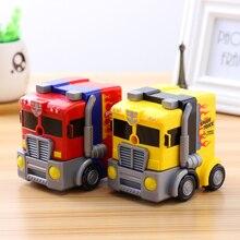 TOPSTHINK Cartoon big truck pencil sharpener automatic pen toy hand pencil machine for kids цены