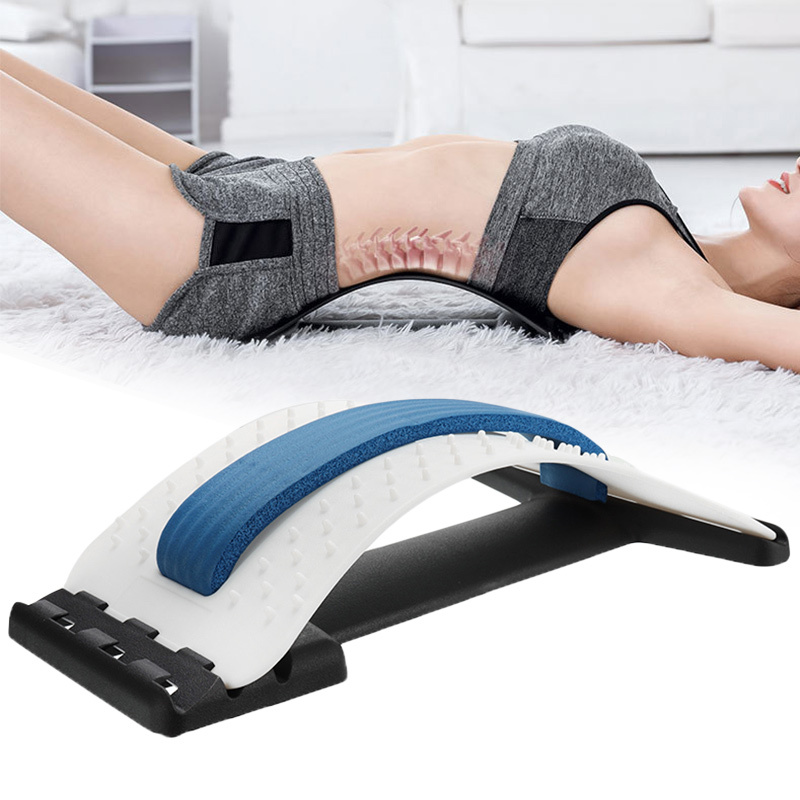 Back Acupressure Stretcher Lumbar Massage Fitness Equipment Stretch Relax Mate Stretcher Support Spine Pain Relief Health Care