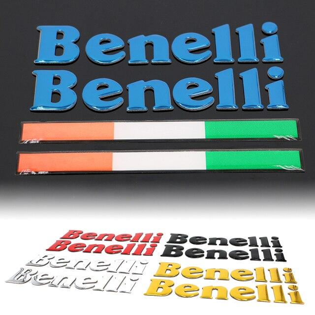 Pegatinas de Logo 3D para tanque de motocicleta, calcomanía para Benelli TRK 502 BN 302 TNT BJ 600, piezas para depósito de motocicleta, pegatina italiana, accesorios para motos