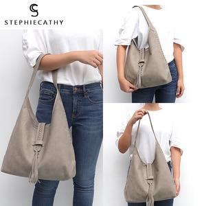 Image 5 - SC Brand High Quality Cow Leather Shoulder Bag For Women Fashion Tassel Design Ladies Large Hobo Genuine Leather Female Handbags