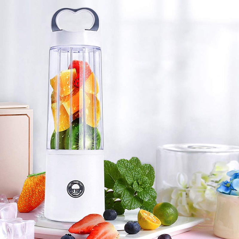 Personal Blender Glass Portable Blender for Shake and Smoothie  Usb Rechargeable Juicer Cup  Multifuntional Small  Single Serve|Juicers| |  - title=