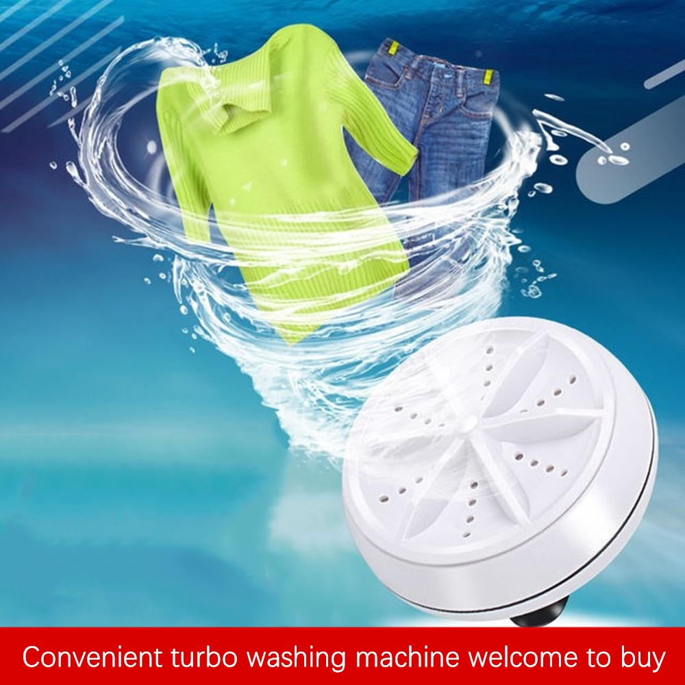 Mini Ultrasonic Turbo Washing Machine Portable USB Bubble and Rotating Washing Machine Household Washing Machine Family Travel