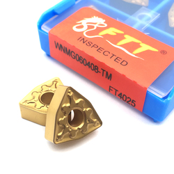 WNMG060404 WNMG 060408 TM FT4025 Steel Machining Turning Boring CNC Lathe Tools Tungste Carbide Inserts for WWLN MWLN