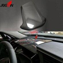 LHD Glänzend Real Carbon Fiber Für Honda Civic MK X MK10 2017 2020 Typ R Auto Innen Dashboard Tacho instrument Panel Trim