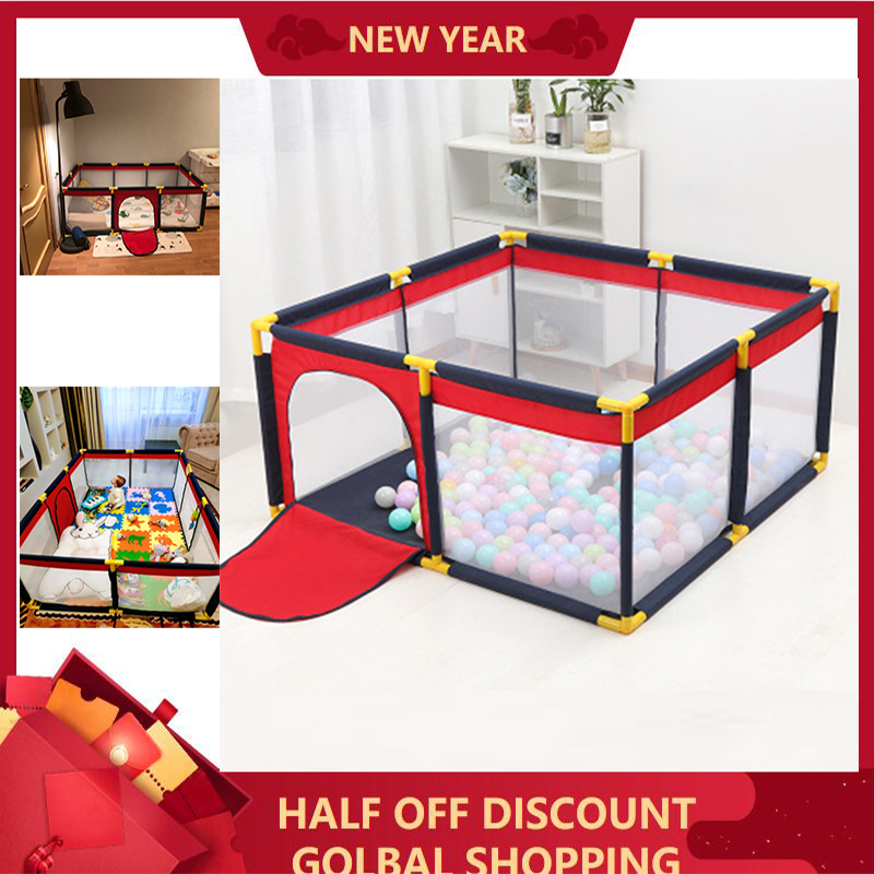 Portable Children's Playpen Baby Safety Fence Folding Play Fence Size S M L Suitable 6M-13 Y