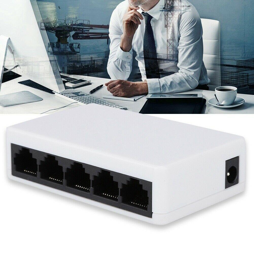 Высокоскоростной сетевой мини-переключатель с 5 портами, сетевой коммутатор Ethernet, разветвитель концентратора CSMA/CD, максимальная 100 м, иденти...