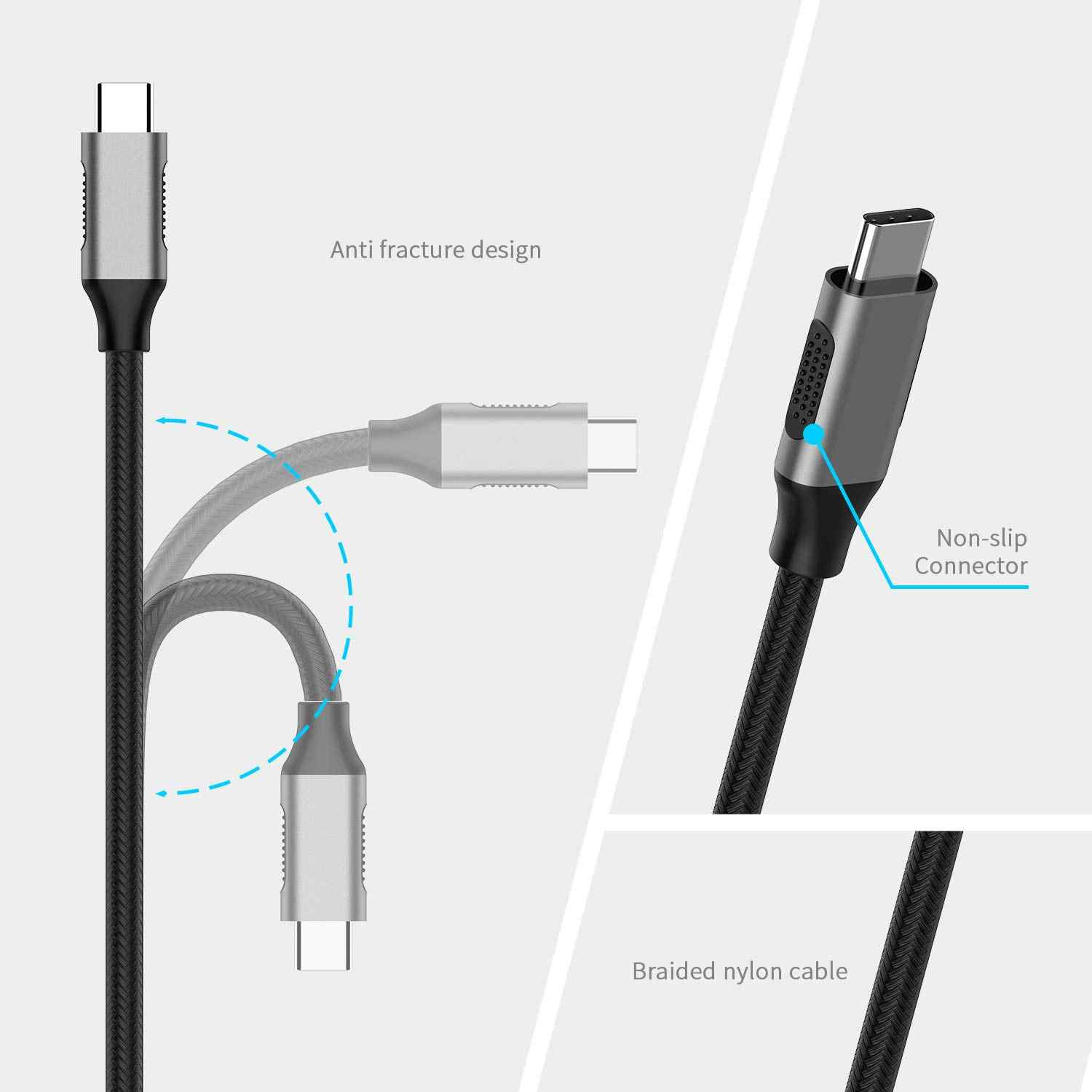 Usb C a Vga, di Tipo C a Vga Cavo Del Convertitore per Macbook Pro, 2018 2019 Ipad/Mac Air, Superficie Libro 2/Go, Chromebook 13/15
