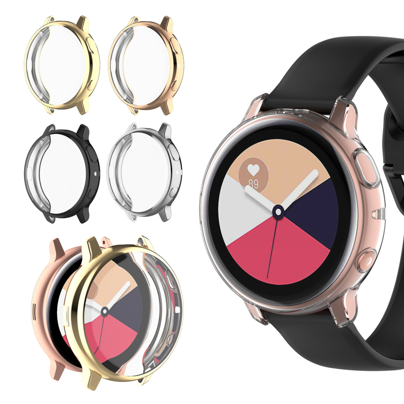 For Galaxy Active Watch For Samsung Galaxy Watch Case Active 44mm 830 Full HD Protection Bumper Screen Protection Case Cover