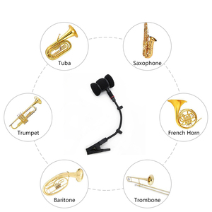 Image 5 - saxophone microphone clip without mic, saxophone microphone stand only, clip for sax trumpet violin musical instrument mounting