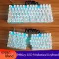 Раздельный, разделение механическая клавиатура полный ключ программируемый пользовательский кнопочный светильник USB светодиодный подсве...