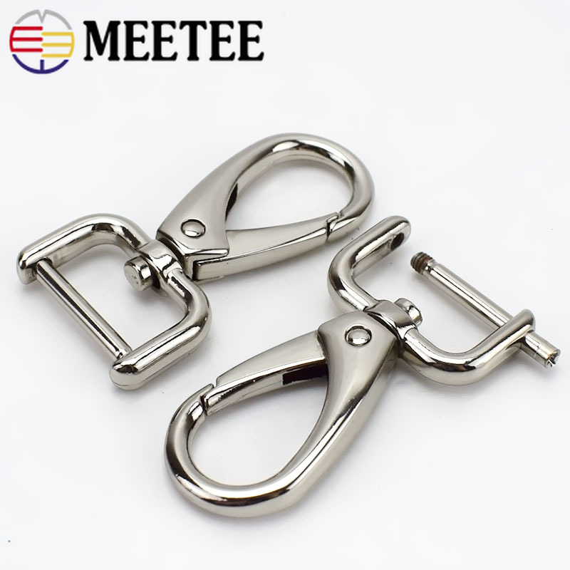 10 Pcs Swivel Keychain Lobster Clasp Leather Bag Accessory Buckle Trigger Hook