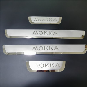 Image 5 - עבור אופל מוקה ווקסהול Mokka X 2012 2020 דלת אדן שפשוף צלחת משמר נירוסטה דוושת בעיטה מדבקה לרכב סטיילינג אבזרים