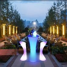 Новинка, 16 цветов, светодиодные коктейльные столы, растущая коммерческая мебель, вечерние украшения, принадлежности, коктейльный стол