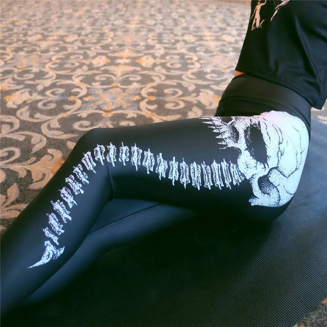 SKELETON SKULL HEAD LEGGINGS