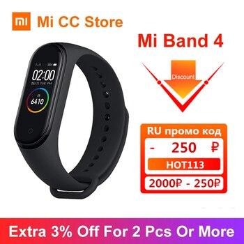En Stock Xiaomi Mi bande 4 Bracelet 5 couleurs Bracelet AMOLED écran fréquence cardiaque Fitness Tracker bluetooth 5.0 étanche bande intelligente