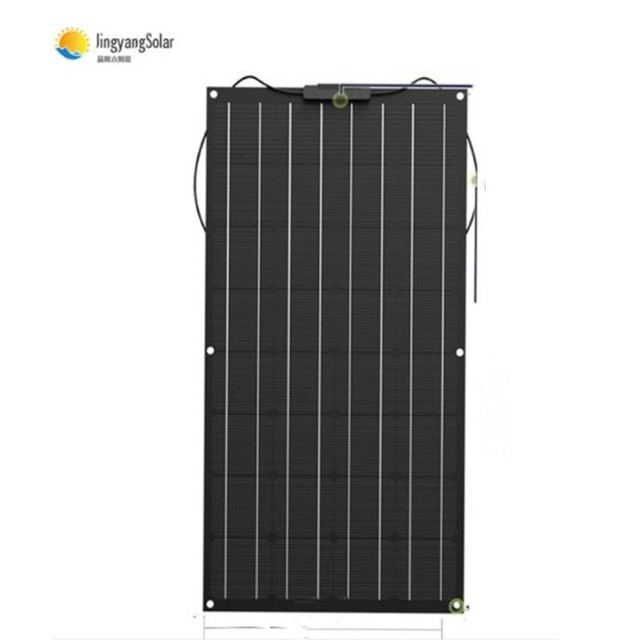 solar panel 200w 100w strongly recommend 100W flexible solar panel For 12V battery charger Monocrystalline cell 1
