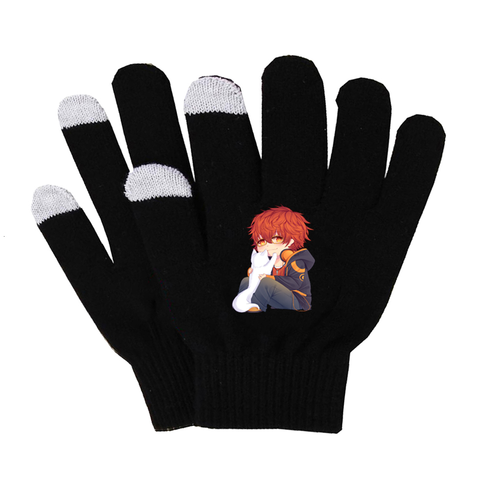 Game Mystic Messenger Gloves Multi-function Winter Soft Gloves Touch Screen Smart Phone Female Gloves