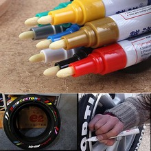 Motorcycle Auto Car Wheel Tyre Tire Pen Waterproof Marker Paint Colorful Car Wheel Tyre Tire Tread Paint Markers Car Accessories