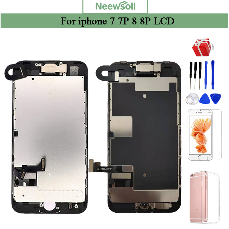 LCD Speaker Lcd-Screen-Assembly-Replacement Front-Camera Completed iPhone 7 8-Plus