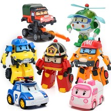 6 шт./компл. Робокар Поли корейские Игрушки Робот-трансформер Поли Эмбер Рой модель автомобиля аниме экшн-фигурки Куклы Игрушки для детей по...